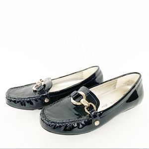 Anne Klein Iflex AKMYLES NavyBlue Leather Loafers